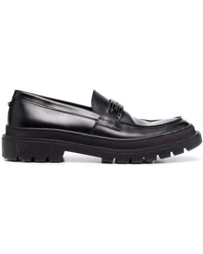 Loafers - czarne Karl Lagerfeld