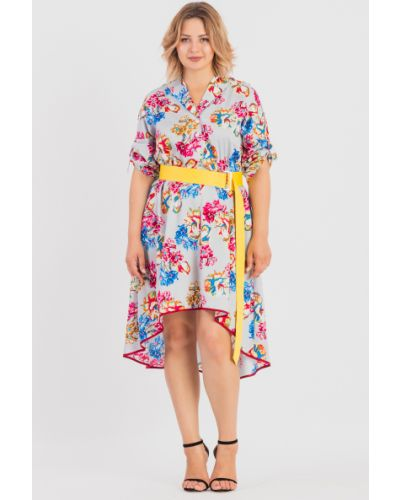 Платье мини розовое серое Lacywear