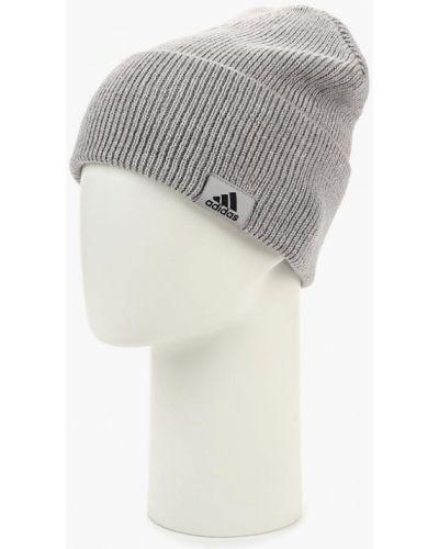 Серая шапка осенняя Adidas