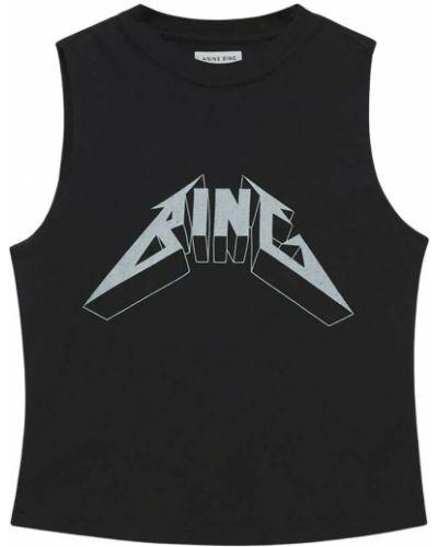 Czarna koszulka Anine Bing