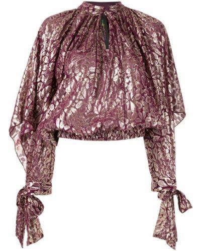 Блузка с длинным рукавом с поясом с воротником-стойкой Romance Was Born