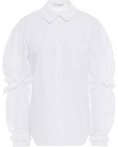 Biała koszula bawełniana zapinane na guziki Vivetta