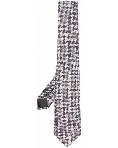 Krawat srebrny - czarny Givenchy