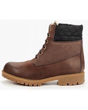 Ботинки на каблуке осенние коричневые Enzo Logana