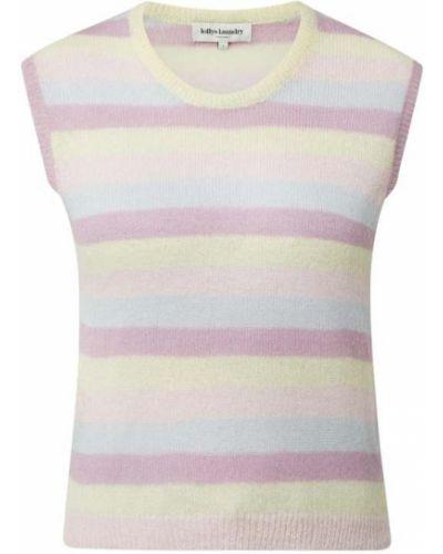 Prążkowana różowa kamizelka z nylonu Lollys Laundry