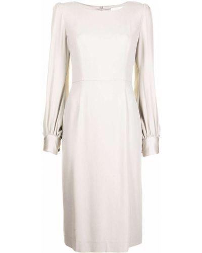Серое платье миди с вырезом из вискозы Goat
