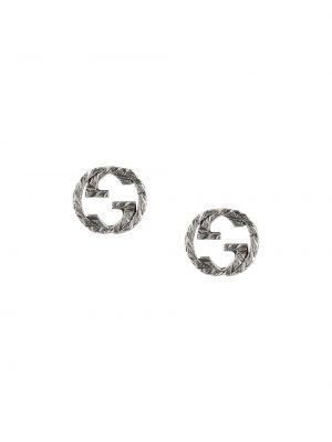 Kolczyki ze sztyftem kolczyki pierścionki srebrne Gucci