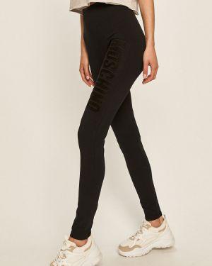 Czarne legginsy bawełniane Moschino Underwear