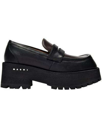 Czarne loafers Marni