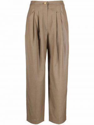 Шерстяные брюки - коричневые Rejina Pyo