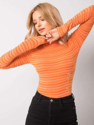 Pomarańczowy sweter Fashionhunters