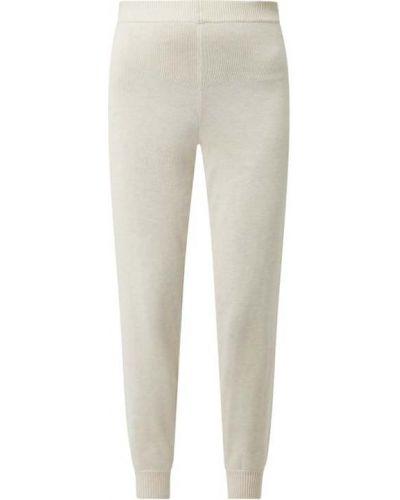 Białe spodnie dzianinowe Edited