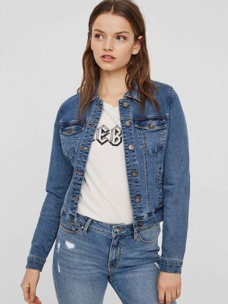 Джинсовая куртка весенняя синий Vero Moda