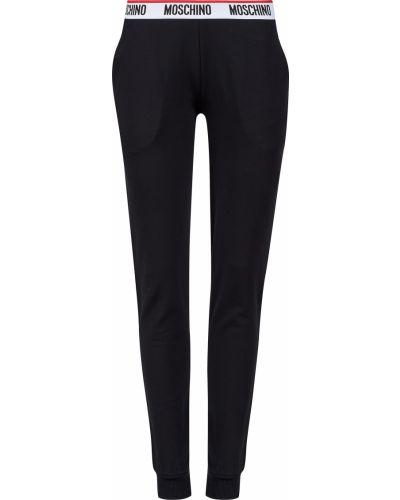 Черные спортивные брюки Moschino