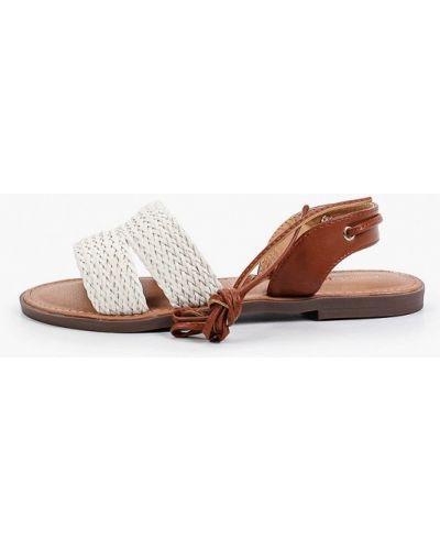 Белые кожаные сандалии Marquiiz