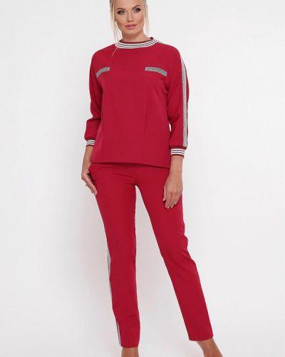 Брючный костюм красный бордовый Vlavi
