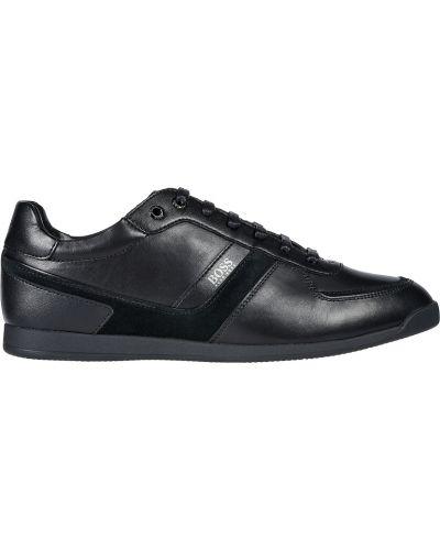 Кроссовки замшевые черные Hugo Boss