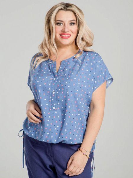 Синяя блузка с коротким рукавом Luxury Plus