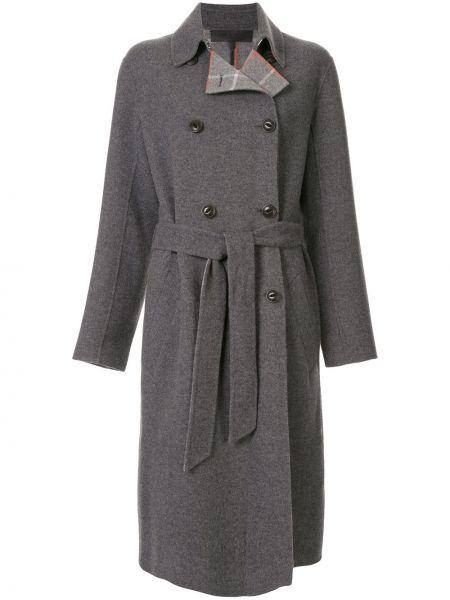 Длинное пальто без воротника в клетку Rag & Bone