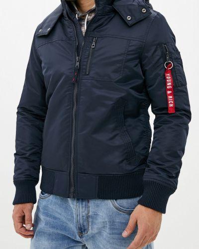 Утепленная куртка осенняя синяя Young & Rich