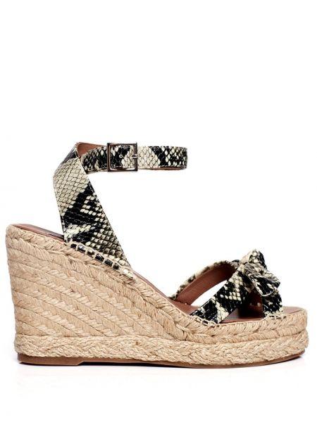 Czarne sandały na platformie skorzane Tabitha Simmons