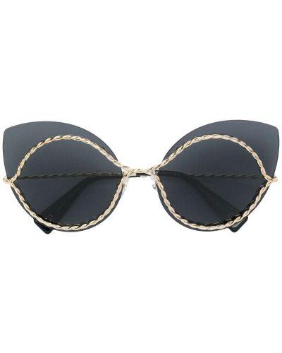 Солнцезащитные очки кошачий глаз черные Marc Jacobs Eyewear