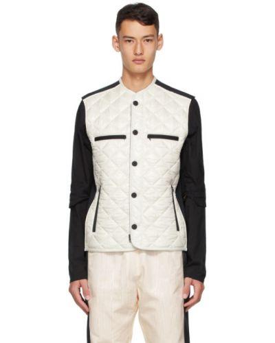 Пуховая белая жилетка с карманами Moncler Genius
