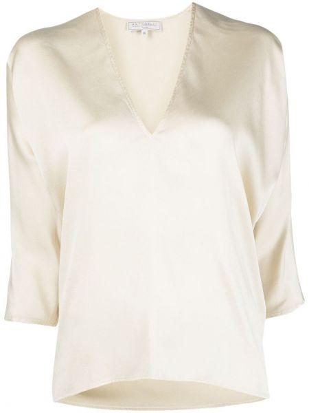 Шелковая блузка с вырезом узкого кроя Antonelli