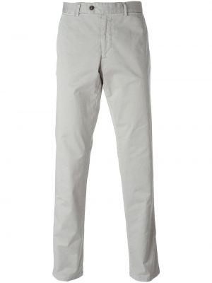 Серые прямые брюки Fay