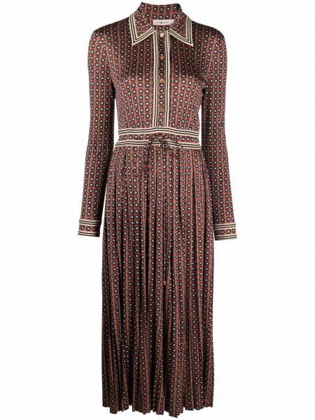 Шелковое платье макси - красное Tory Burch