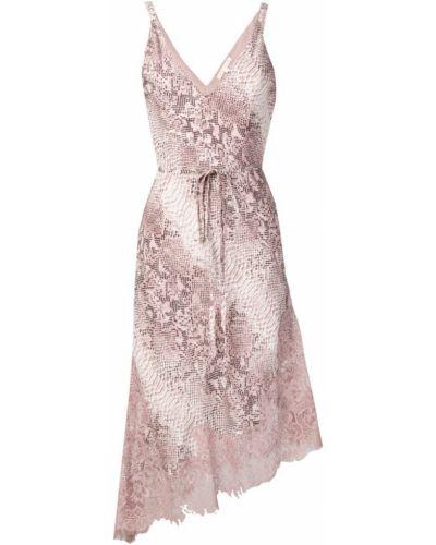 Платье миди розовое с открытой спиной Gold Hawk