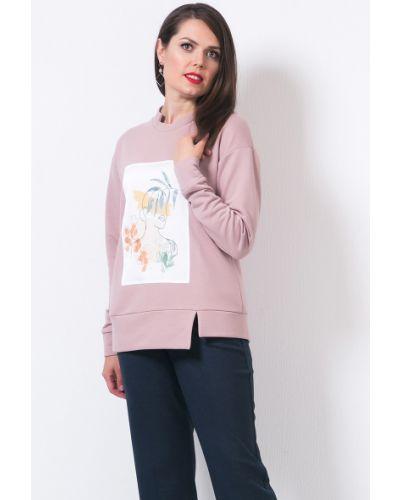 С рукавами трикотажная блузка с воротником Modellos