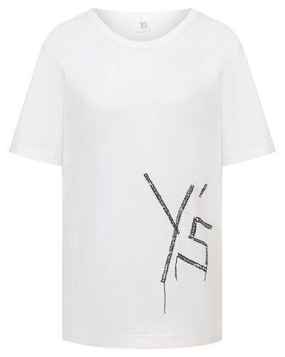 Хлопковая футболка - белая Y`s