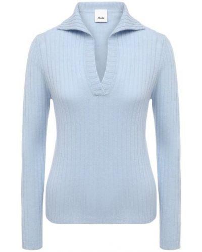 Трикотажный пуловер - голубой Allude