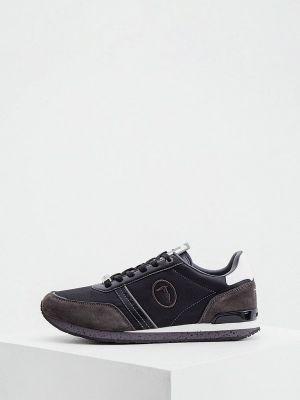 Серые демисезонные кроссовки Trussardi