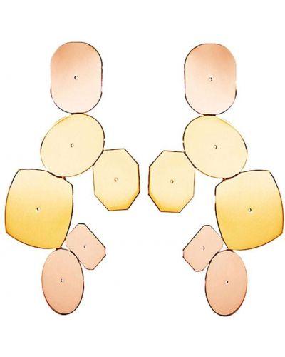 Różowe złote kolczyki sztyfty Lito