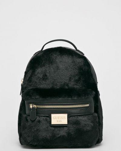 Рюкзак кожаный черный Guess Jeans