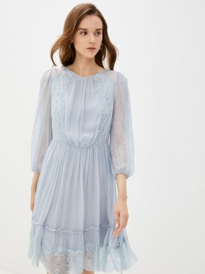 Серое прямое платье Lusio
