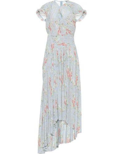 Теплое платье с цветочным принтом плиссированное Preen By Thornton Bregazzi