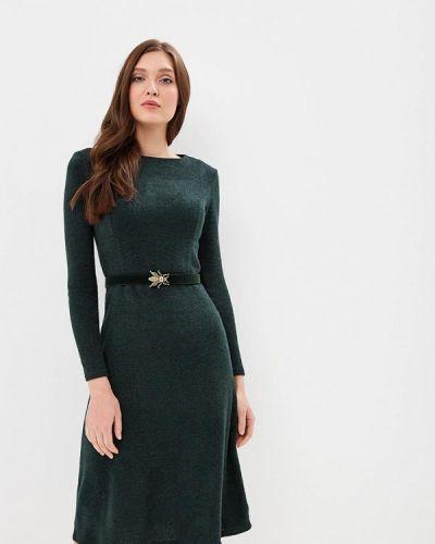 Платье осеннее зеленый Mari Vera