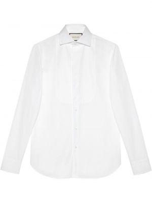 Biały bawełna koszula z mankietami zapinane na guziki Gucci