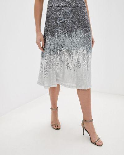Серебряная юбка свободного кроя Twist & Tango