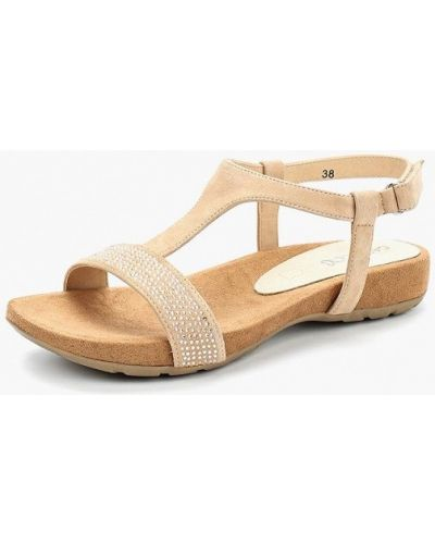 Бежевые сандалии замшевые Caprice