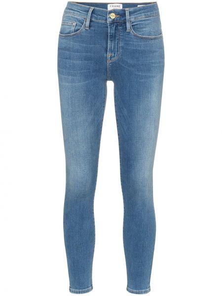 Укороченные джинсы скинни синие Frame