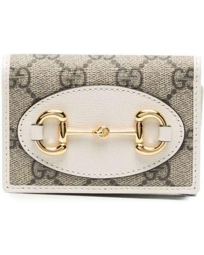 Klasyczny beżowy portfel skórzany Gucci