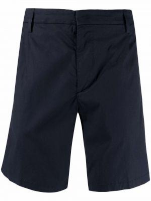 Хлопковые синие шорты-чиносы с карманами Dondup