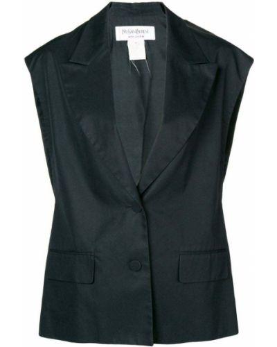 Жилетка классическая черная Yves Saint Laurent Pre-owned