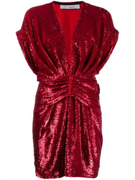 Платье мини с пайетками с декольте Iro