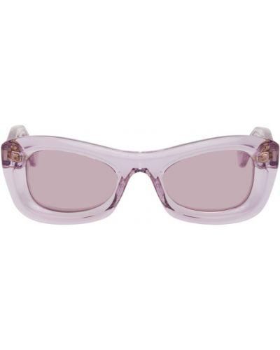 Złote fioletowe okulary Bottega Veneta