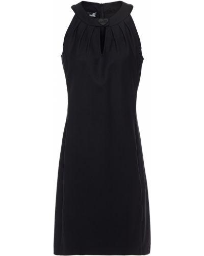 Шерстяное платье мини - черное Love Moschino